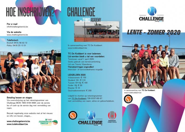 Tennislessen en stages Lente-Zomer 2020 – Challenge Tennis