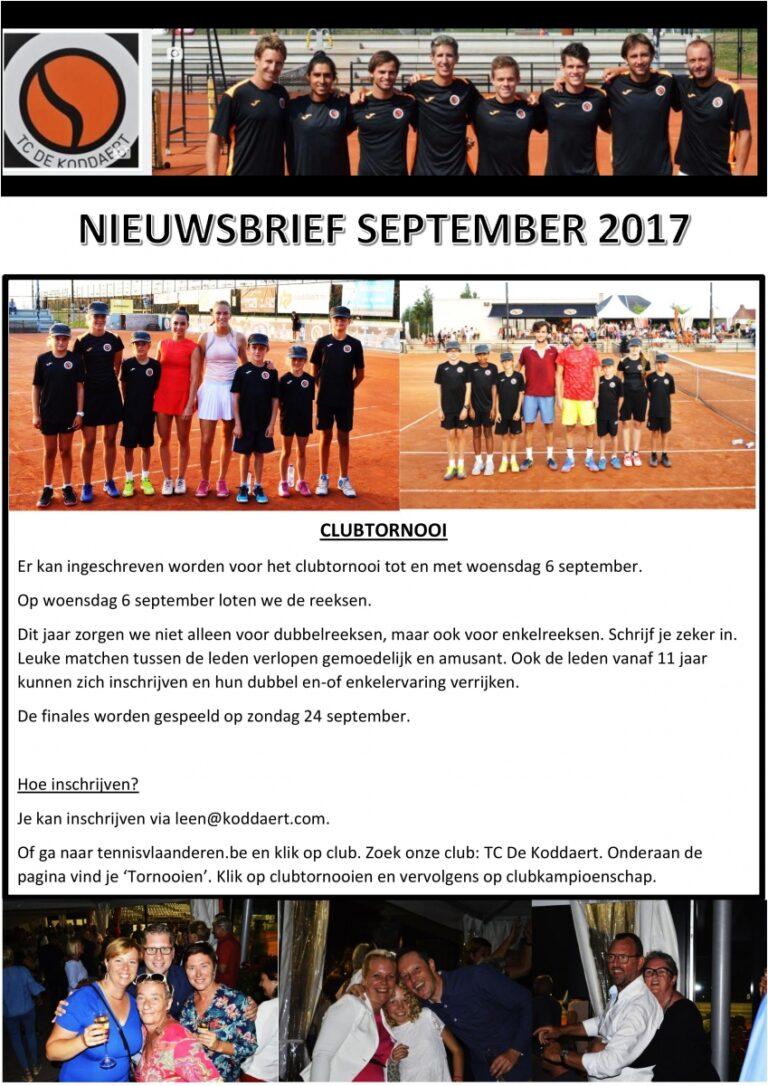 Nieuwsbrief september